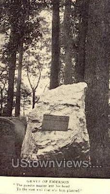 Grave of Emerson - Concord, Massachusetts MA Postcard