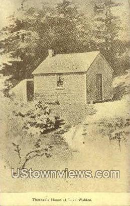 Thoreau's Home - Concord, Massachusetts MA Postcard