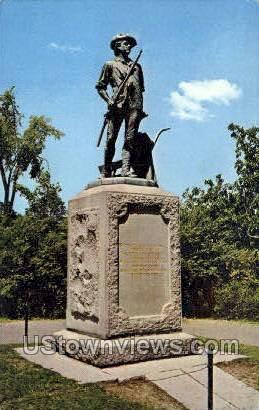 Minute Man Statue - Concord, Massachusetts MA Postcard