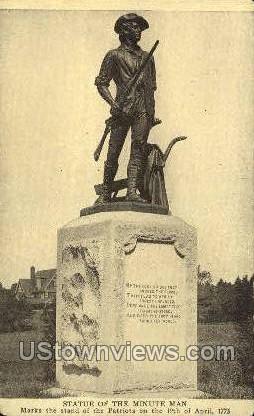 Statue of the Minute Man - Concord, Massachusetts MA Postcard