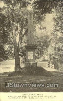 Battle Monument - Concord, Massachusetts MA Postcard