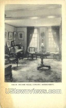 Parlor, Orchard House - Concord, Massachusetts MA Postcard