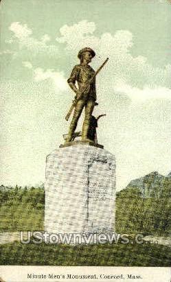 Minute Men's Monument - Concord, Massachusetts MA Postcard