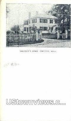 Emerson's Home - Concord, Massachusetts MA Postcard