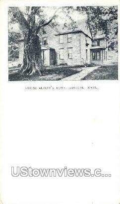 Louise Alcott's Home - Concord, Massachusetts MA Postcard