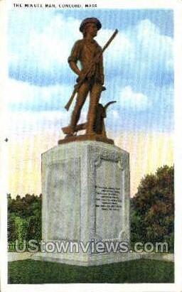 The Minute Man - Concord, Massachusetts MA Postcard