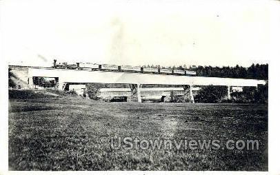 Real Photo - B. & M. Railroad - Holyoke, Massachusetts MA Postcard