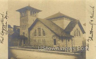 First Congregational Church - Chelsea, Massachusetts MA Postcard