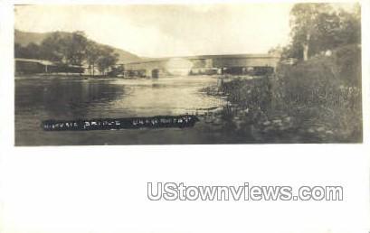 Real Photo - Historic Bridge - Charlemont, Massachusetts MA Postcard