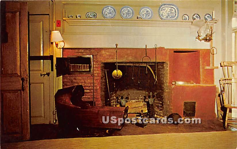 Kitchen in the Old Manse - Concord, Massachusetts MA Postcard
