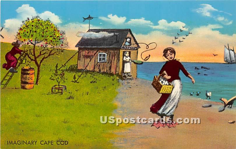 Imaginary - Cape Cod, Massachusetts MA Postcard