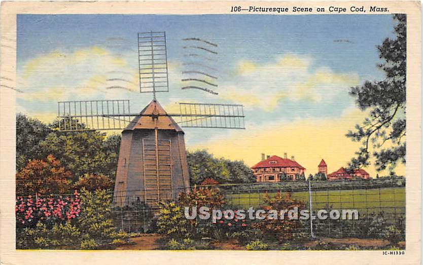 Windmill - Cape Cod, Massachusetts MA Postcard