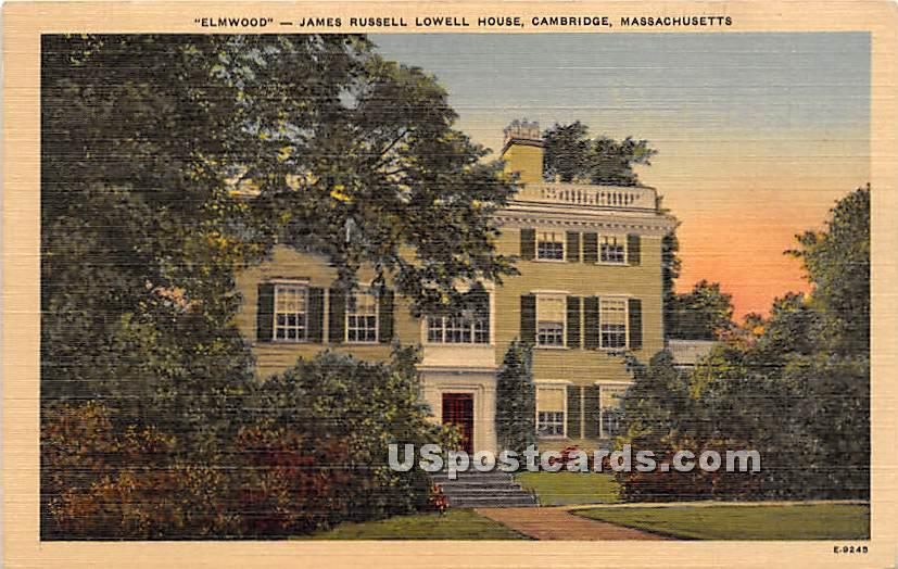 Elmwood James Russell Lowell House - Cambridge, Massachusetts MA Postcard