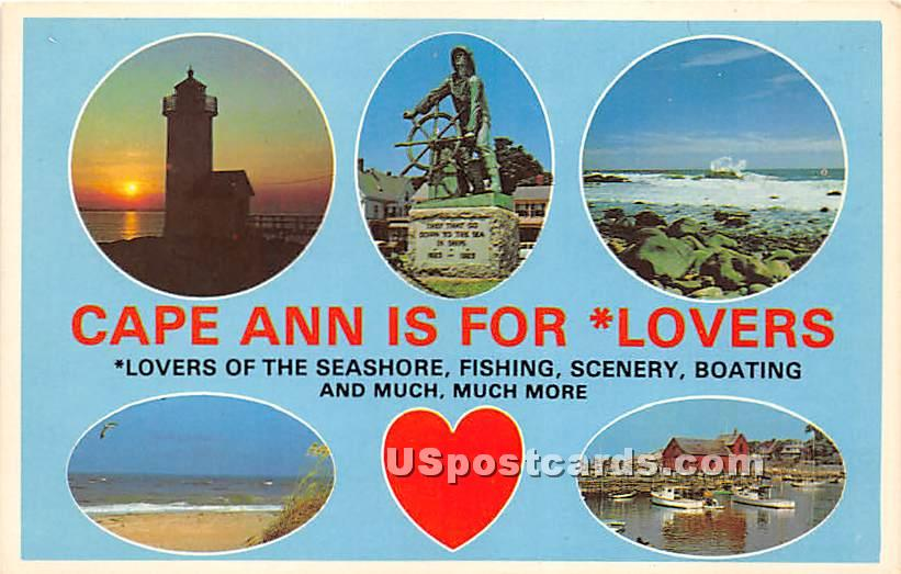 North Shore of Massachusetts - Cape Ann Postcard