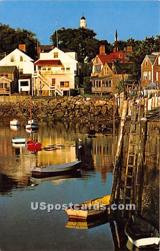 Ebb Tide at Rockport Harbor - Cape Ann, Massachusetts MA Postcard