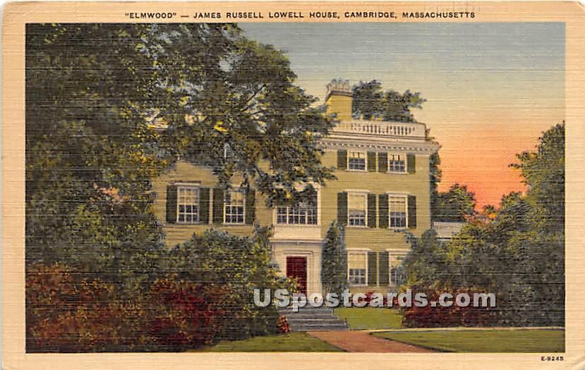 Elmwood at James Russell Lowell House - Cambridge, Massachusetts MA Postcard