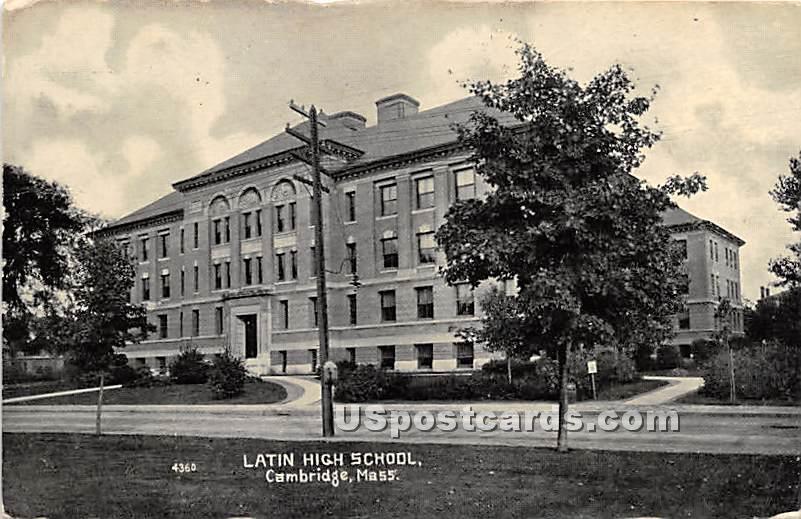 Latin High School - Cambridge, Massachusetts MA Postcard