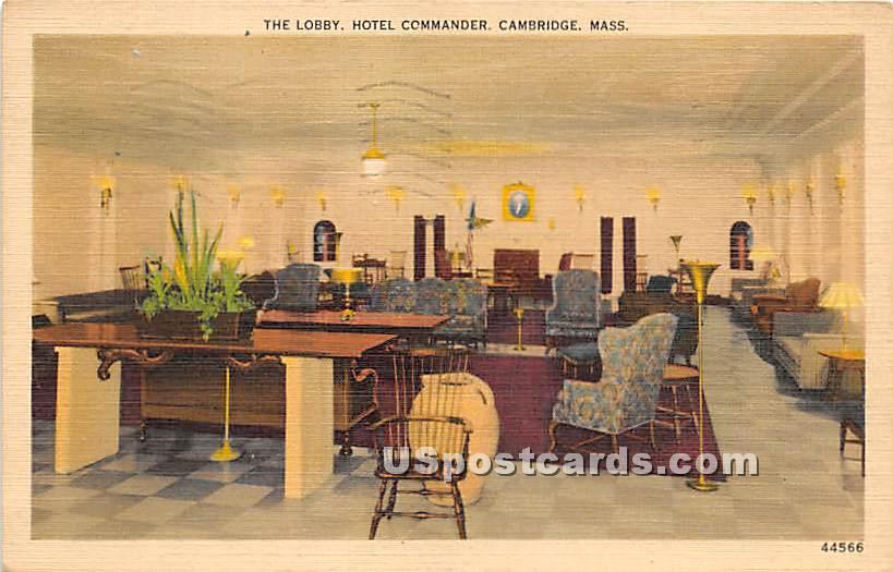 The Lobby at Hotel Commander - Cambridge, Massachusetts MA Postcard