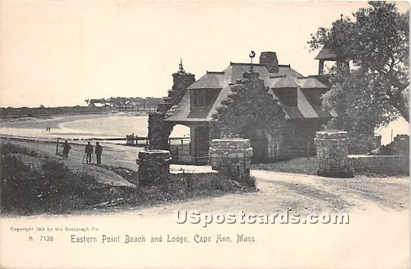 Eastern Point Beach & Lodge - Cape Ann, Massachusetts MA Postcard