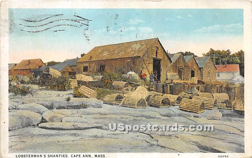 Lobsterman's Shanties - Cape Ann, Massachusetts MA Postcard
