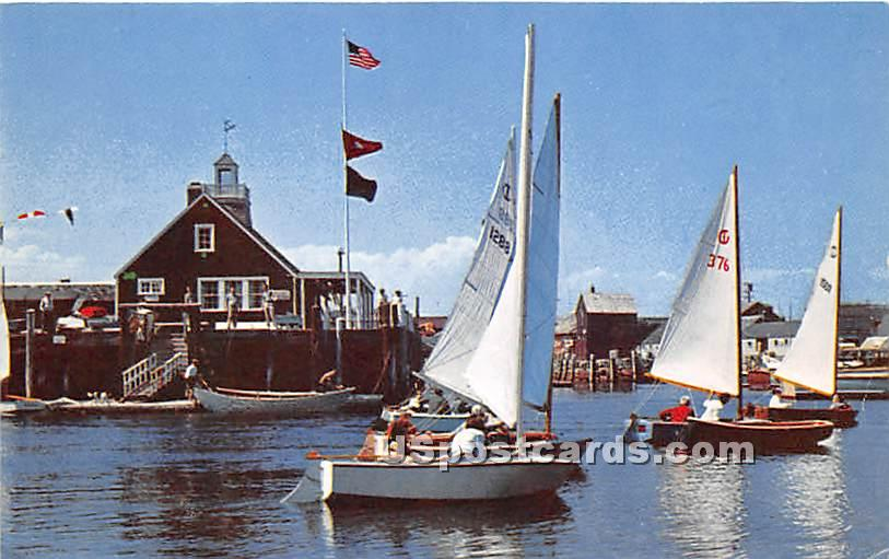 Sandy Bay Yacht Club from Star Island - Cape Ann, Massachusetts MA Postcard