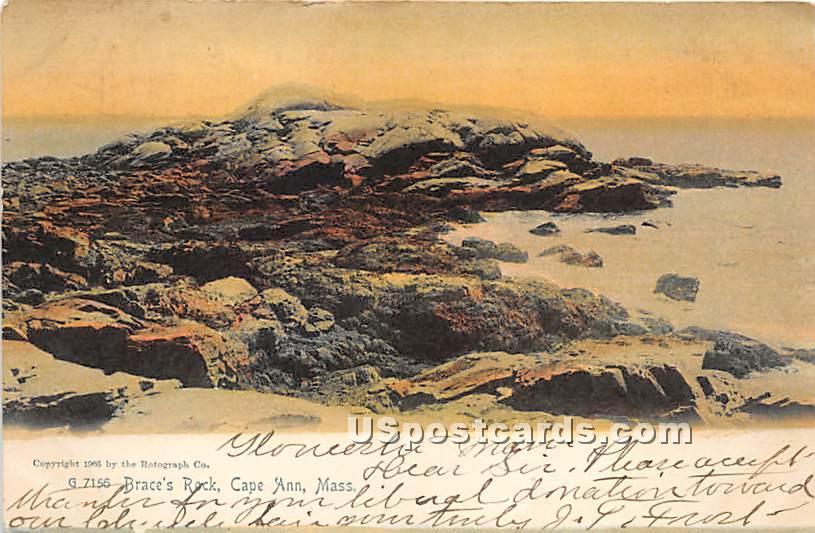 Brace's Rock - Cape Ann, Massachusetts MA Postcard