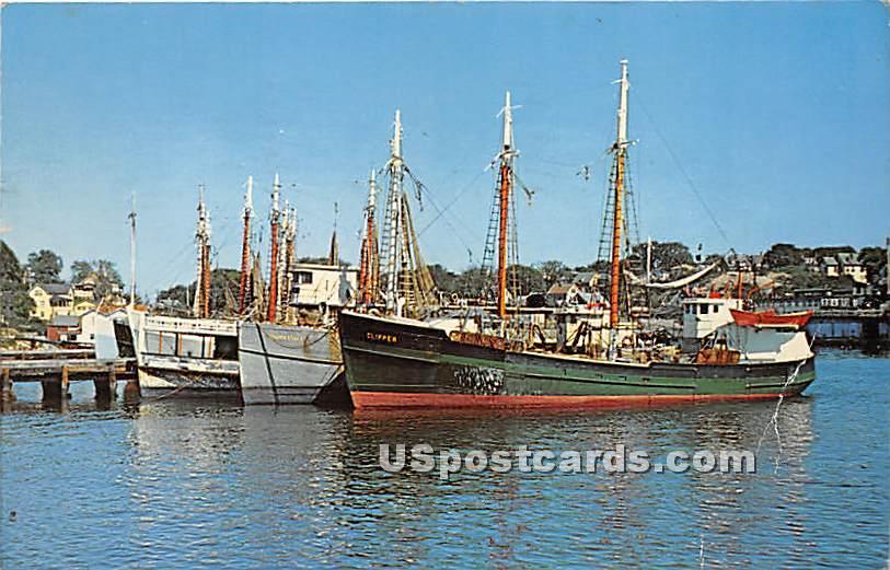 Part of the Famous Gloucester Fleet - Cape Ann, Massachusetts MA Postcard