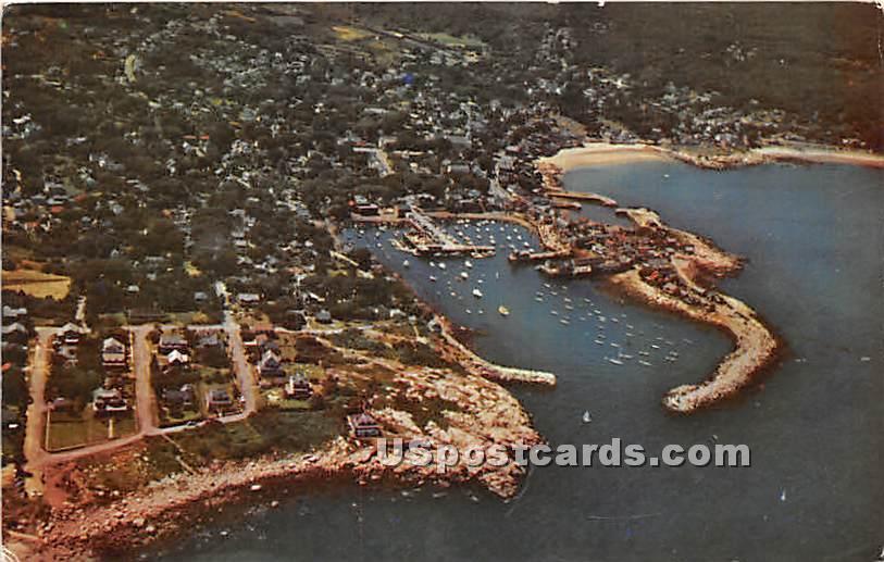 Air Photo at Rockport Harbor - Cape Ann, Massachusetts MA Postcard
