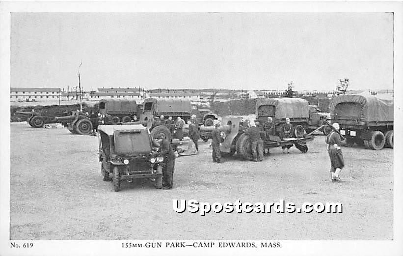 155 MM Gun Park - Camp Edwards, Massachusetts MA Postcard