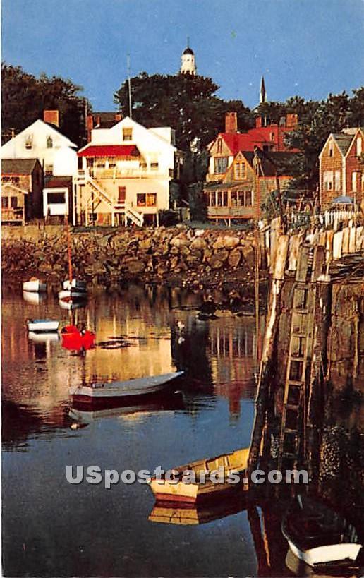 Morning at Ebb Tide Rockport Harbor - Cape Ann, Massachusetts MA Postcard
