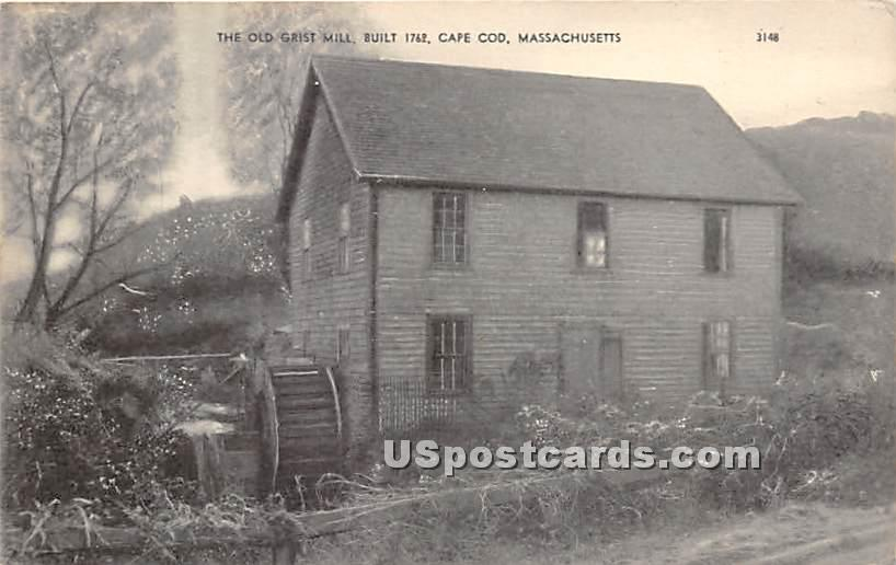 The Old Girst Mill Built 1762 - Cape Cod, Massachusetts MA Postcard