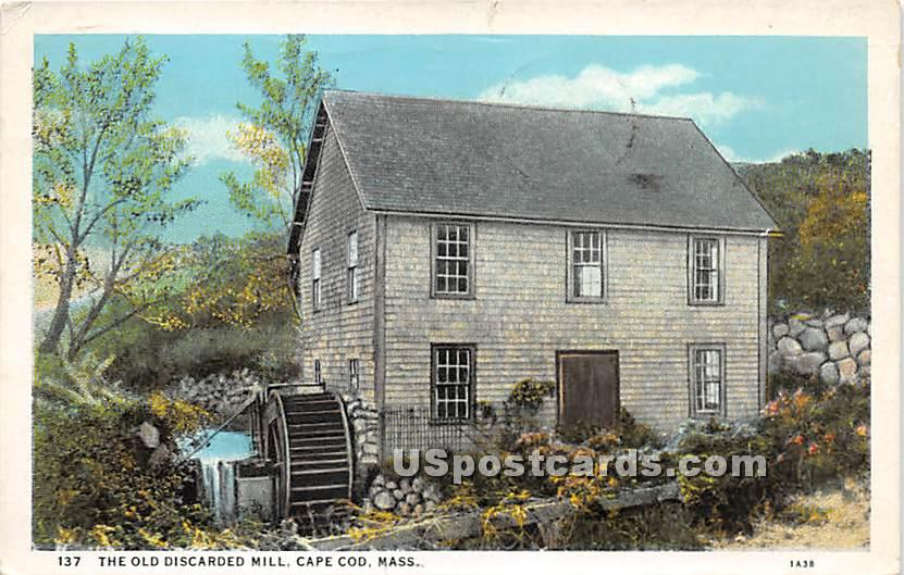 The Oldes Discarded Mill - Cape Cod, Massachusetts MA Postcard