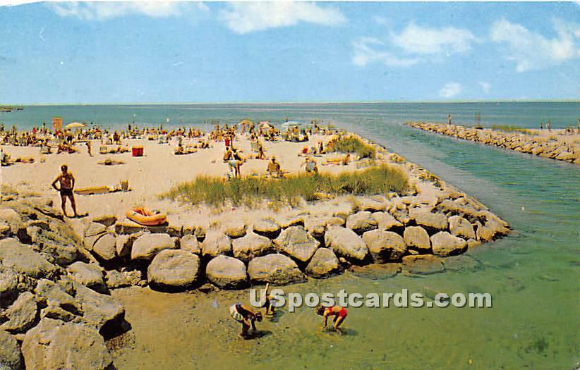 A Day at Old Silver Beach - Cape Cod, Massachusetts MA Postcard