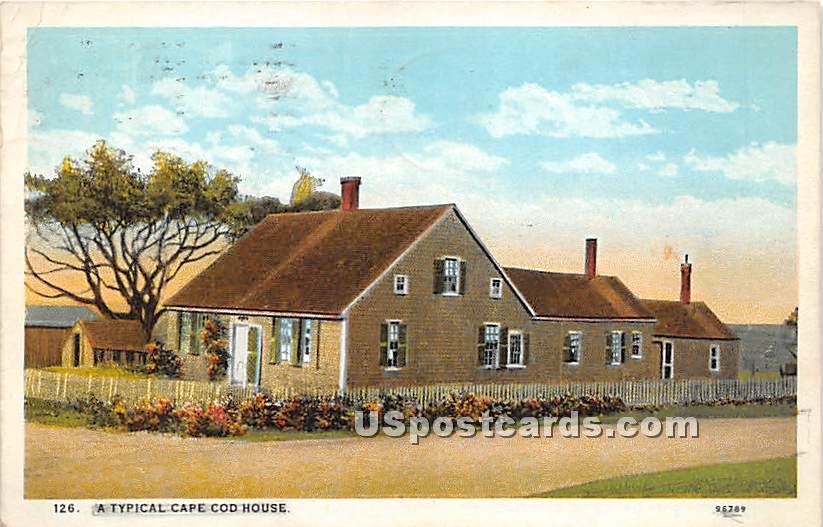 A Typical Cape Cod House - Massachusetts MA Postcard