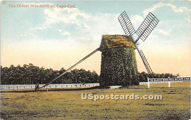 The Oldest Windmill - Cape Cod, Massachusetts MA Postcard