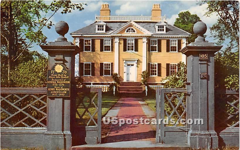 The Longfellow House - Cambridge, Massachusetts MA Postcard