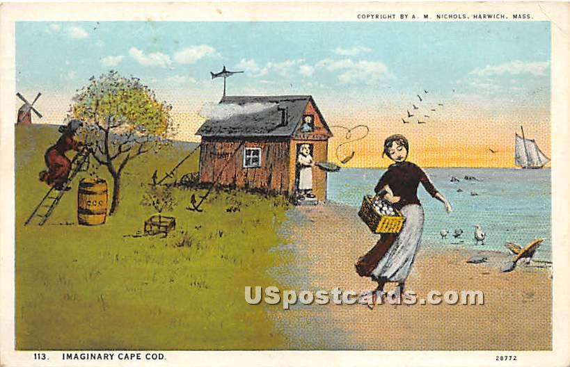 Imaginary Cape Cod - Massachusetts MA Postcard