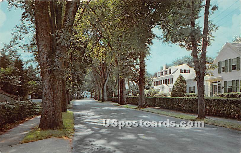 Main Street - Centerville, Massachusetts MA Postcard