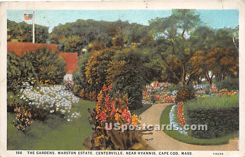 The Gardens at Marston Estate - Centerville, Massachusetts MA Postcard