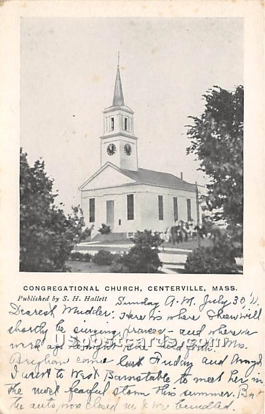 Congregational Church - Centerville, Massachusetts MA Postcard