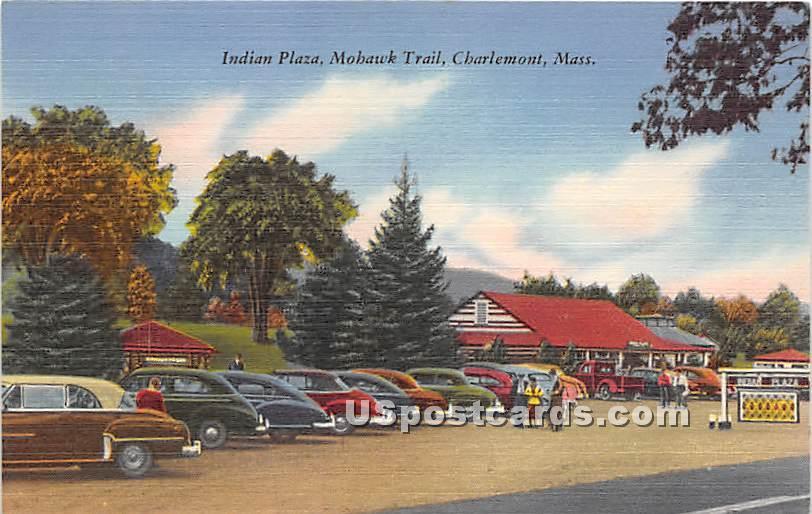 Indian Plaza at Mohawk Trail - Charlemont, Massachusetts MA Postcard