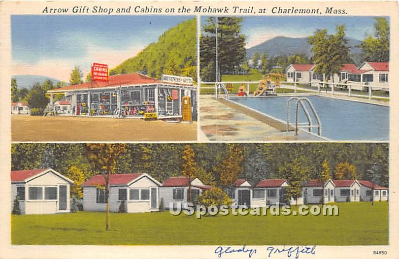 Arrow Gift Shop & Cabins on the Mohawk Trail - Charlemont, Massachusetts MA Postcard