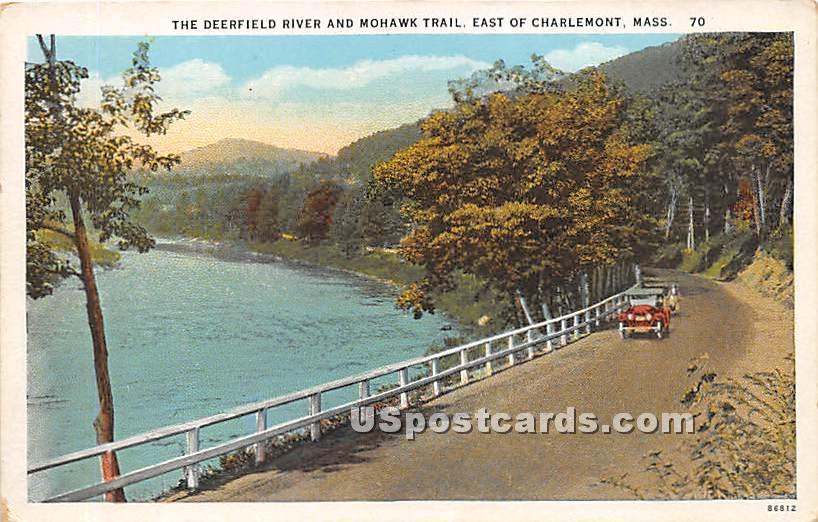 The Deerfield River & Mohawk Trail - Charlemont, Massachusetts MA Postcard