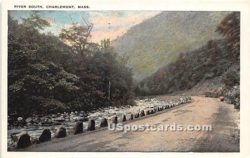 River South - Charlemont, Massachusetts MA Postcard