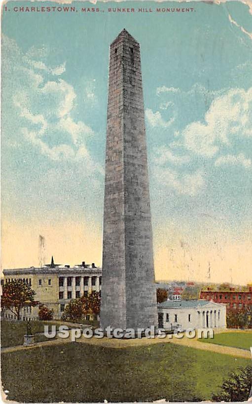 Bunker Hill Monument - Charlestown, Massachusetts MA Postcard