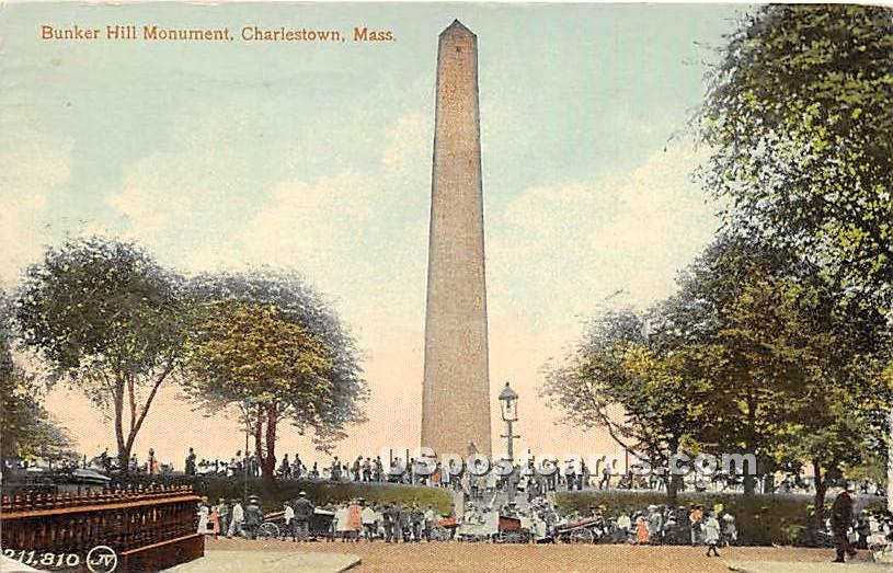 Bunker Hill Monument - Charlestown, Massachusetts MA Postcard