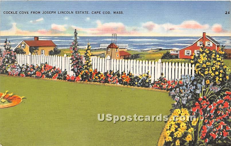Cockle Cove from Joseph Lincoln Estate - Chatham, Massachusetts MA Postcard