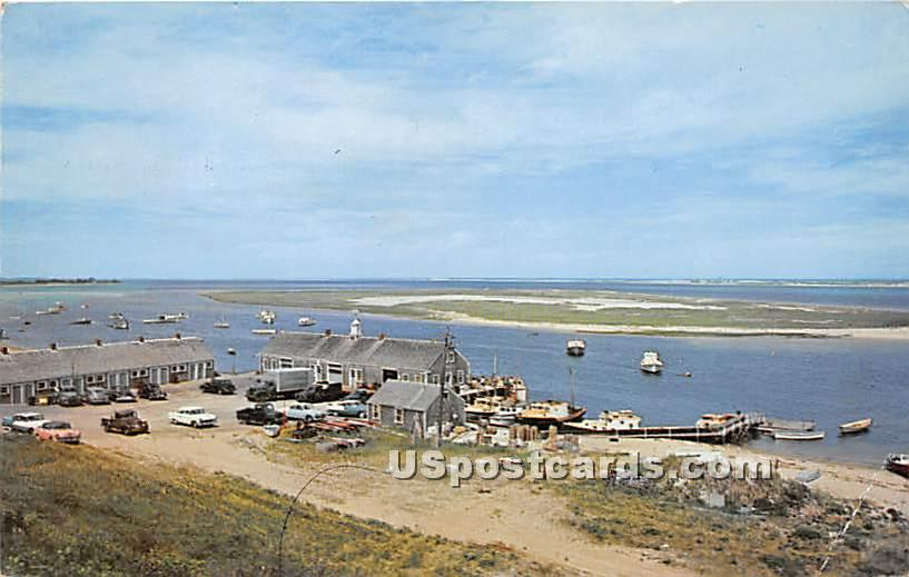 Airview of Chatham Fish Pier - Massachusetts MA Postcard