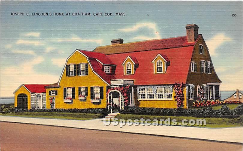 Joseph C Lincoln's Home at Chatham - Massachusetts MA Postcard