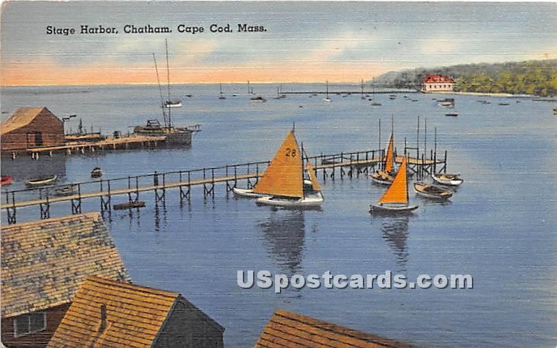 Stage Harbor - Chatham, Massachusetts MA Postcard